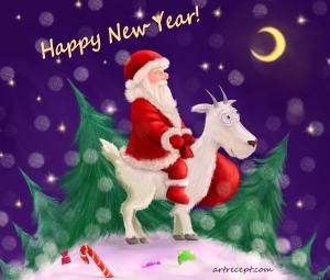 Дед Мороз, дети и новогодние  подарки