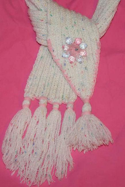 детский шарф своими руками