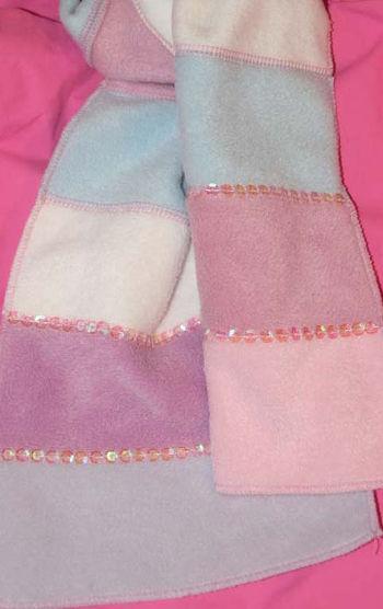 детский шарф с блестками