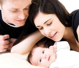 мама папа и малыш