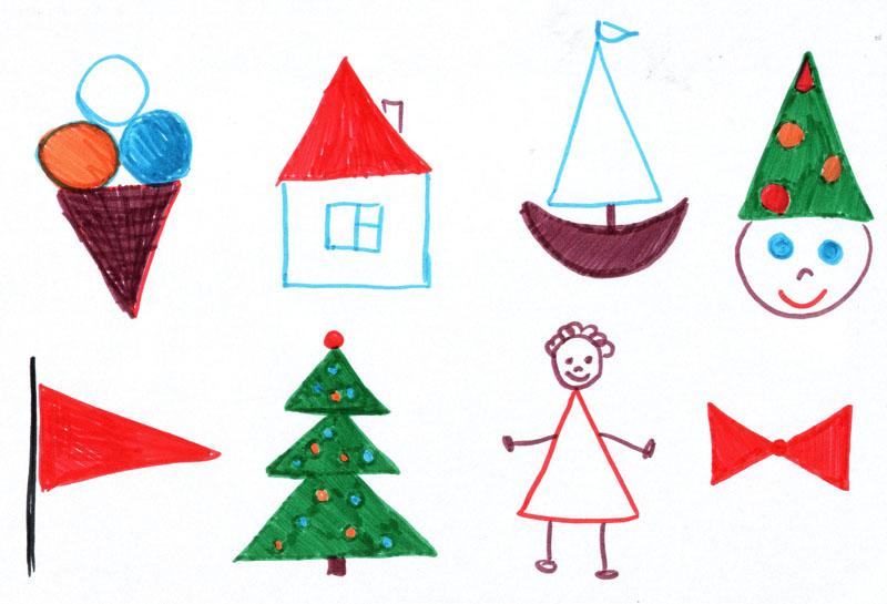 детский рисунок домик кораблик йолка
