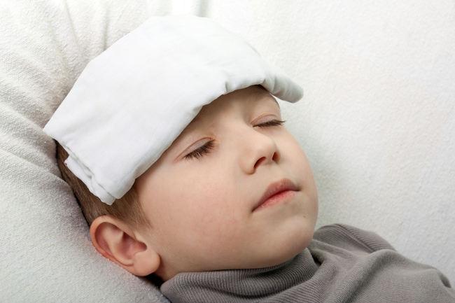 у ребенка высокая температура