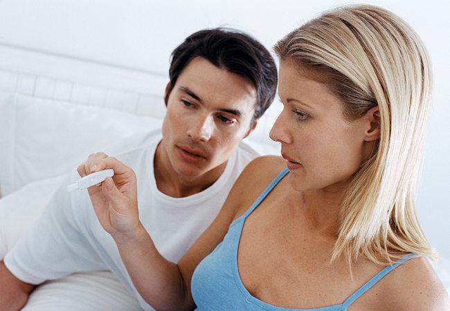 муж и жена тест на беременность